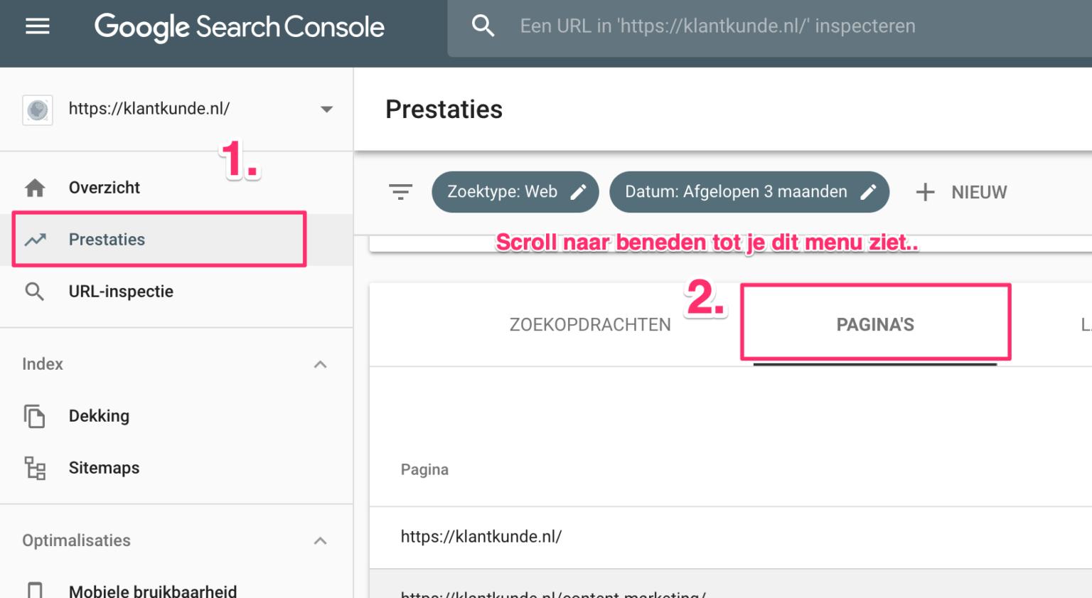 Google Search Console aanvullende zoekopdrachten vinden